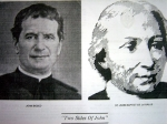 John Bosco and St. John Baptist De La Salle.   Courtesy of Zola Pariseau